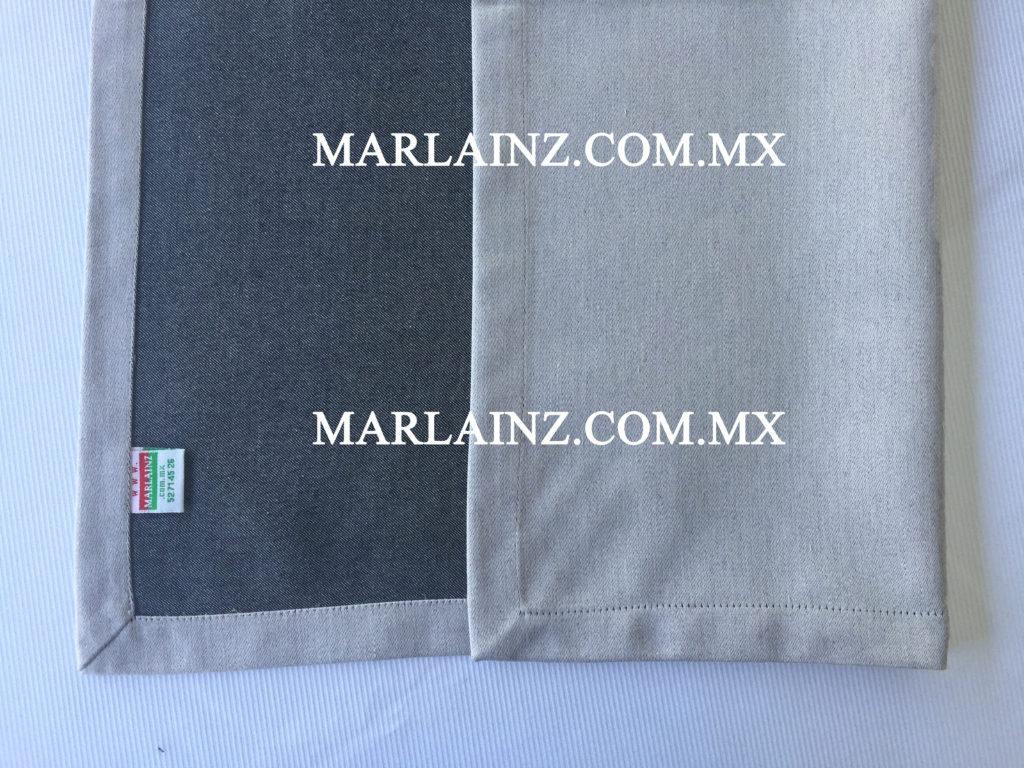 Servilleta Vintage Liso Negro Reves (2)