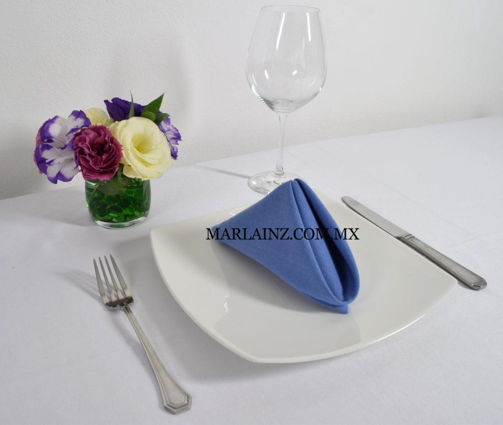 Servilleta Vintage Liso Azul Rey